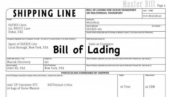 bill of lading là gì