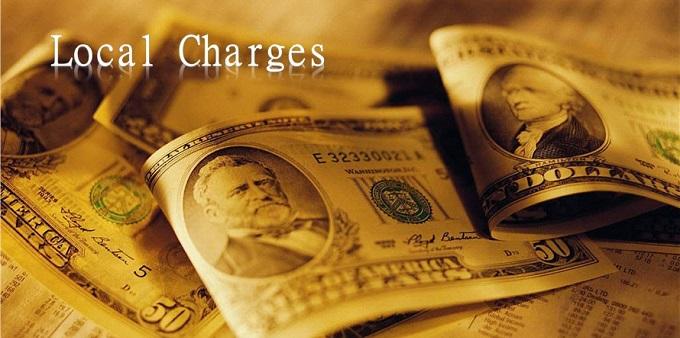 Local charges được hiểu là phí địa phương được trả tại cảng