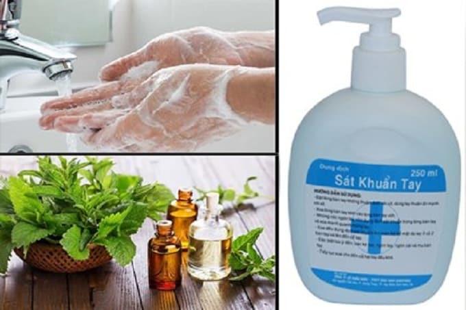 Nước rửa tay sát khuẩn chống dịch bệnh;
