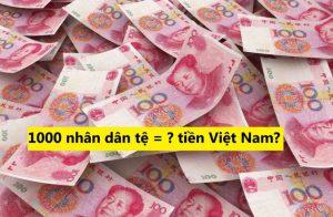 Read more about the article 1000 tệ bằng bao nhiêu tiền Việt Nam, Các mệnh giá tiền Trung Quốc
