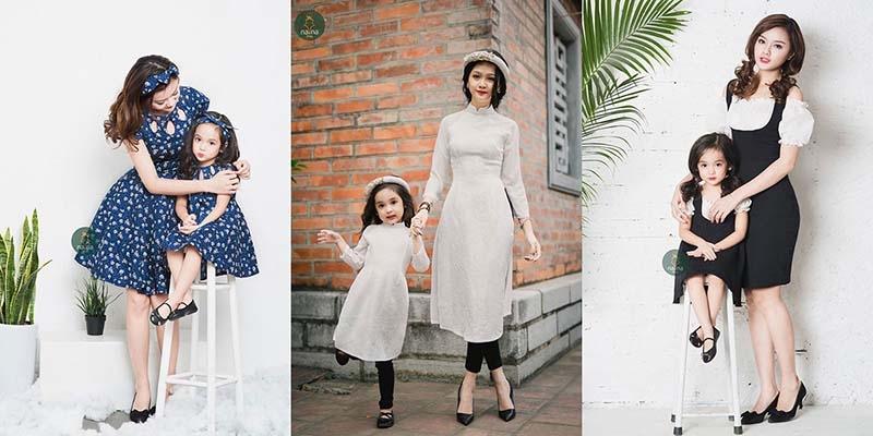 chọn váy đôi mẹ và bé